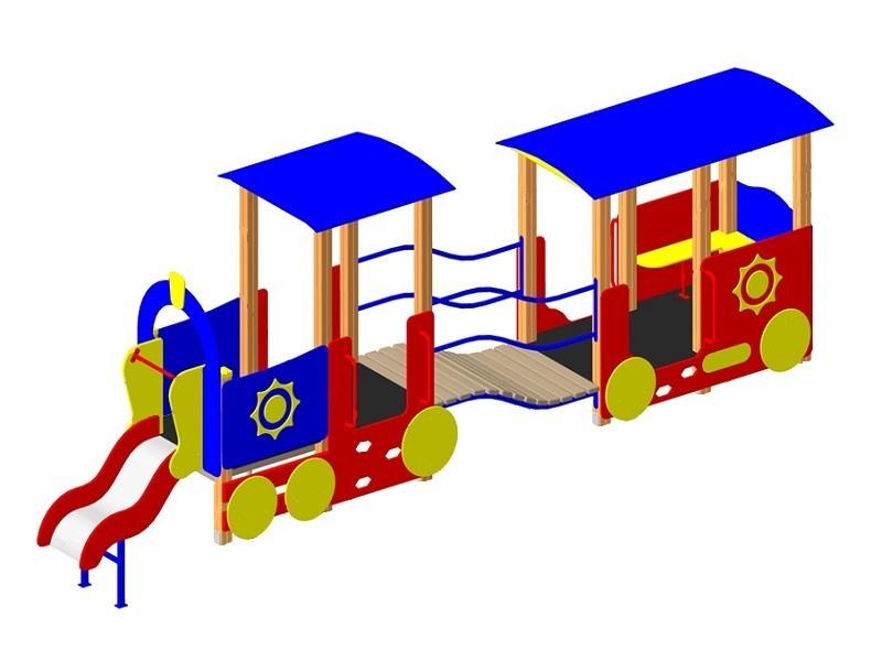ИО-01.1 Игровое оборудование «Паровоз с вагончиком»