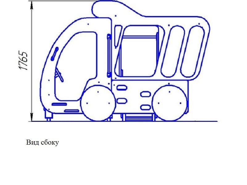 ИО-02.2 Игровое оборудование «Машинка с горкой на боку»