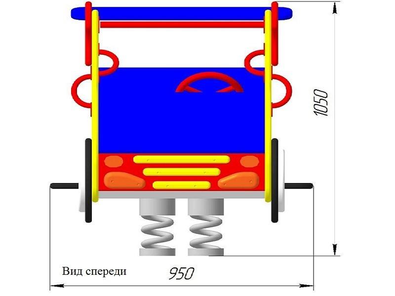 КБ-04.2 Качалка на двойной пружине