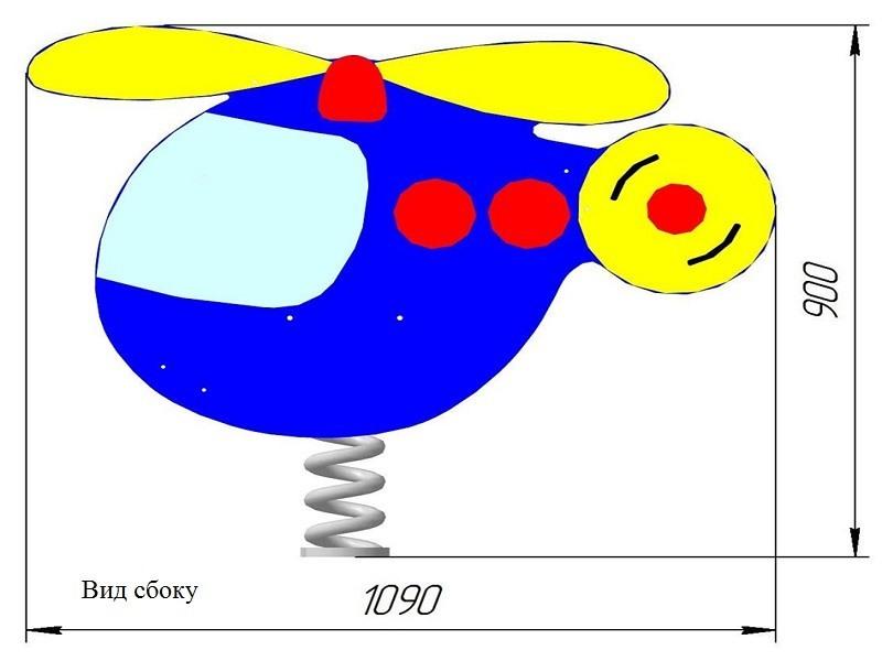 КБ-05.1 Качалка на одинарной пружине