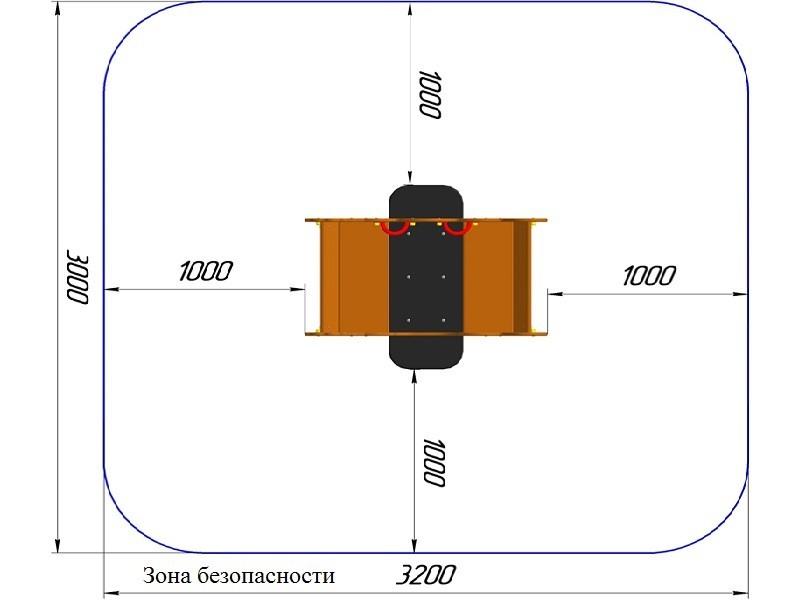 КБ-11.1 Качалка на двойной пружине
