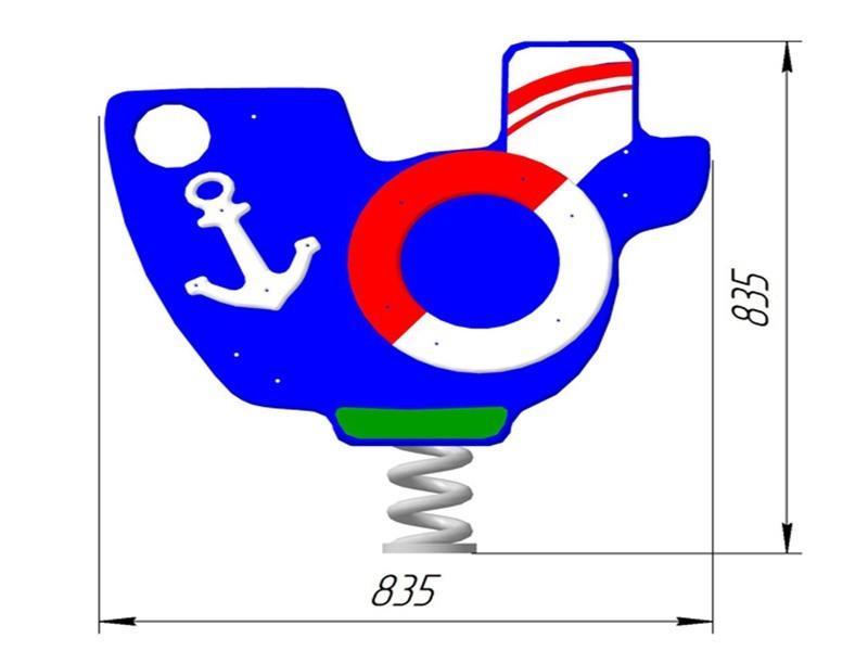 КБ-12 Качалка на пружине «Кораблик»