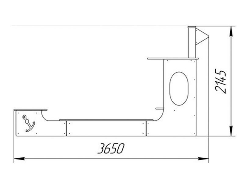 ПС-13 Песочница «Кораблик»