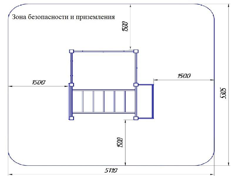 ГК-40М Гимнастический комплекс